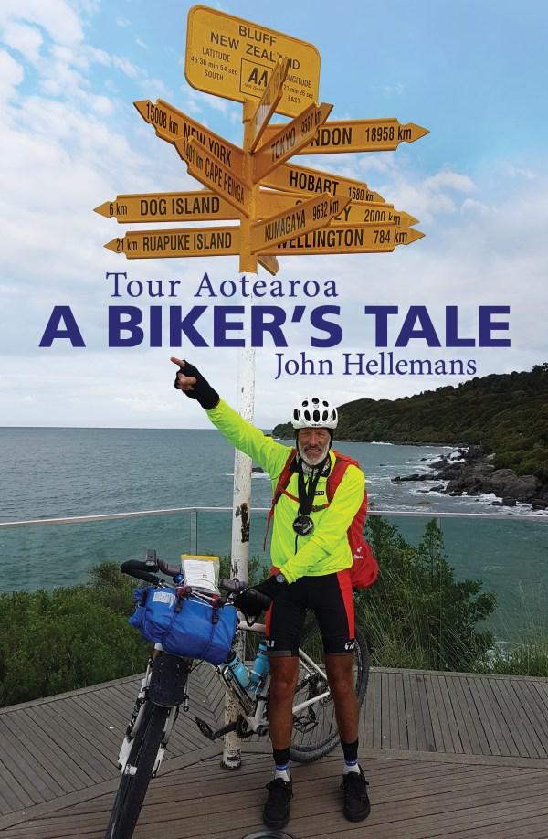 Cover art of a triumphant cyclist.