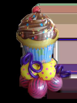 Cupcake Balloon Gift