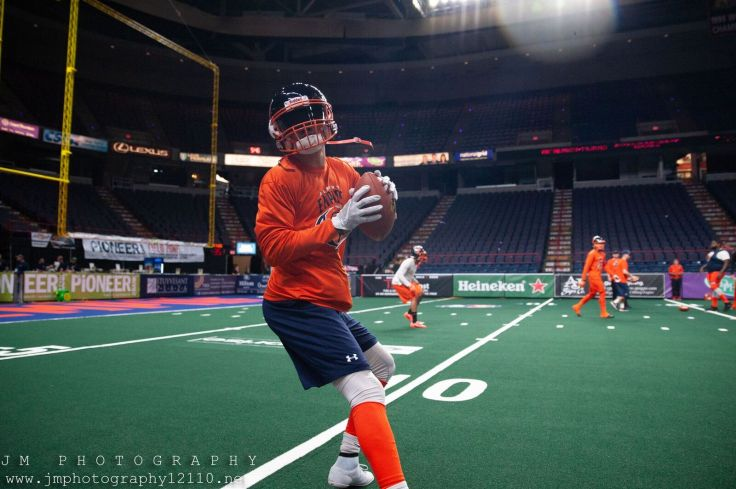 The Albany Empire warm up before Saturday night's game at the Times Union Center in Albany. Photo: Jon Monaghan/UC Sports