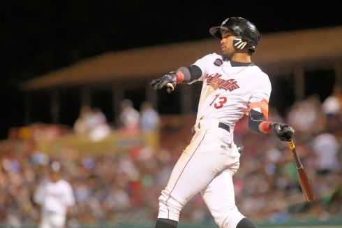 ValleyCats outfielder Carlos Machado swings at a pitch Tuesday. Photo: Robert Dungan/The Upstate Courier