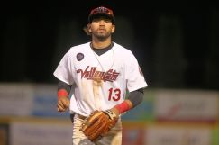 ValleyCats outfielder Carlos Machado Wednesday night. Photo: Robert Dungan/The Upstate Courier