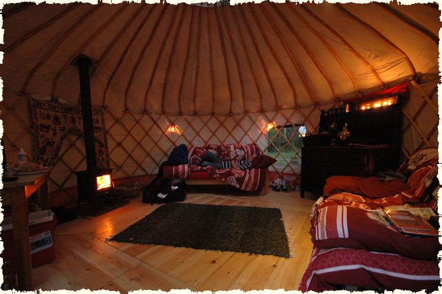 Image result for inside yurt photos