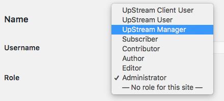 choose the WordPress users role