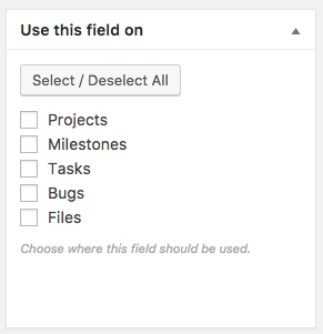 assigning custom fields