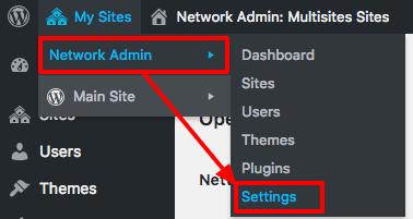 Network admin settings