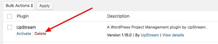 Delete a WordPress plugin