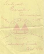 Duhamel Recreation Commission Calendar of Events, October 1973 -Mary Carne files