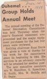 Duhamel Recreation Commission article Nelson Daily News Mar 14 1968 -P. Ormond files
