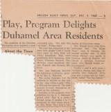 Duhamel Recreation Commission article Nelson Daily News Dec 9 1967 -P. Ormond files
