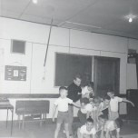 Duhamel Recreation Commission Gymnastics St Andrews Church Hall, 1966, Pat Deakin instructor -P.Ormond files
