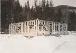 Construction of the Question Mark Store building, Winter 1948 photo credit - Patsy Ormond