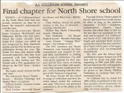 Nelson Daily News article on final awards day at A.I. Collinson, 2008