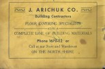 J. Arichuk Co. ad 1956