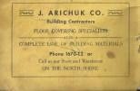 J. Arichuk Co. ad 1956