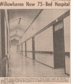 Willowhaven adds new wing Mar 12 1965 NDN clipping - P.Ormond files
