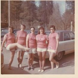 Dorothy Wassick, Winnie Hoover,Lorna Hamilton,Rose Donaldson, Iris Turner