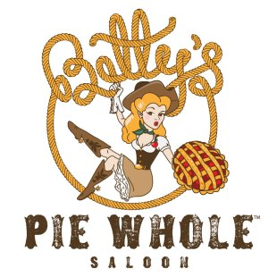 Cowgirl Pin-Up Pie Shop Logo