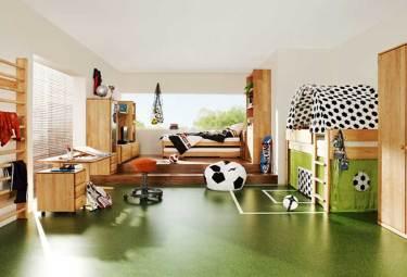 decoração de quarto de criança tema futebol