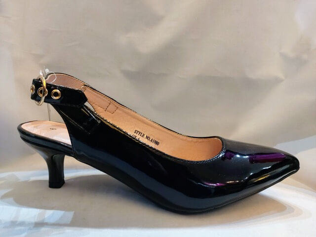 Comfort Plus slingback in patent black