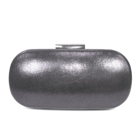Lunar Francie pewter bag shown from back view