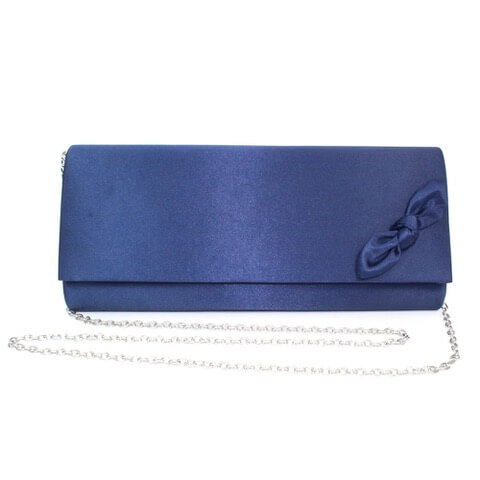 Lunar Indie handbag in navy colour. It has a bow on the right hand corner of the flap