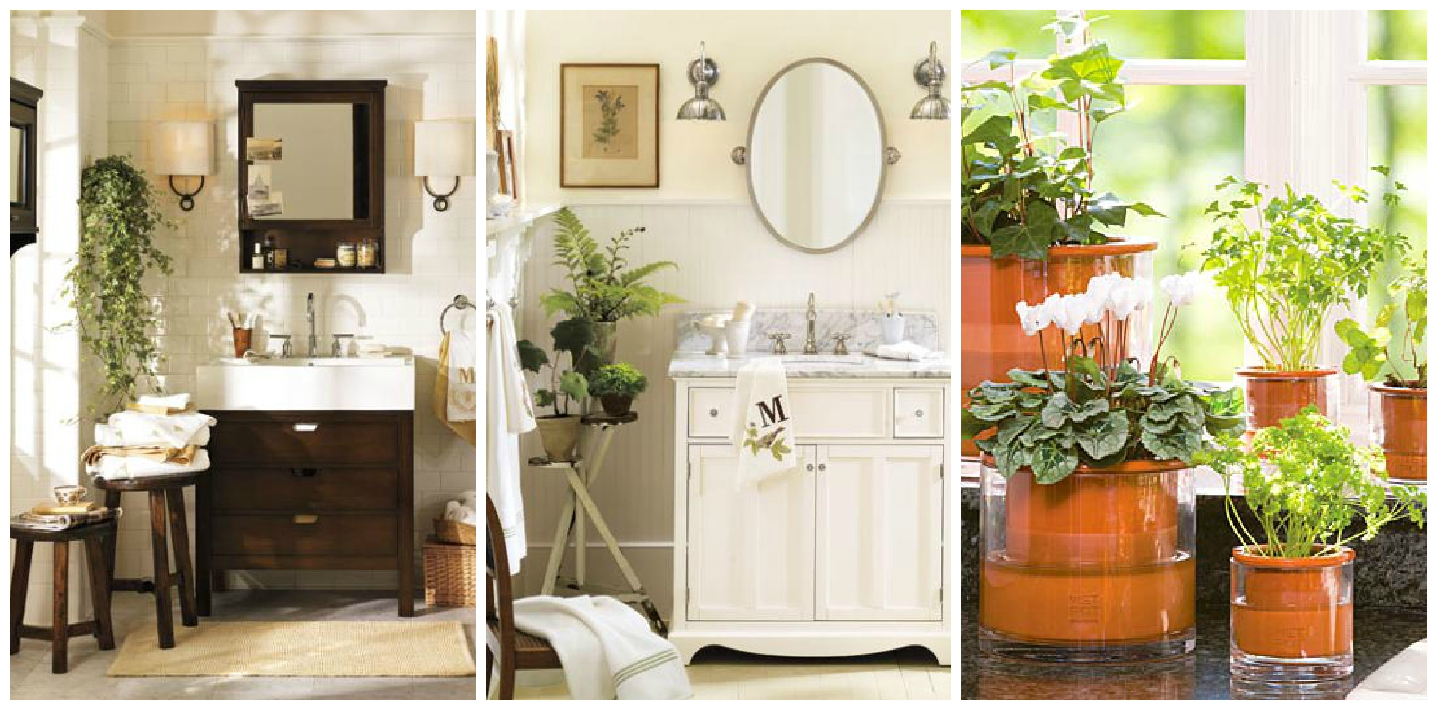 Bathroom Decor Ideas Add Greenery