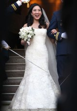 Michelle Kawn's Vera Wang Wedding Dress