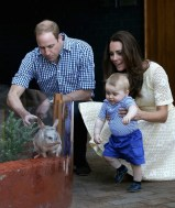 Prince George At The Zoo With Kate Middleton & Prince Williams