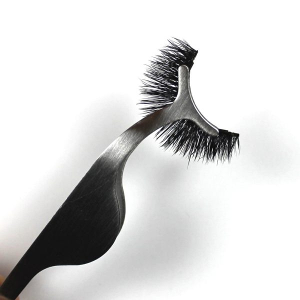 Silver magnetic eyelash applicator tool