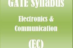 Gate Syllabus EC