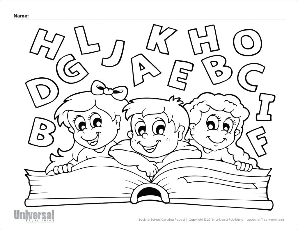 Back To School Coloring Page 2