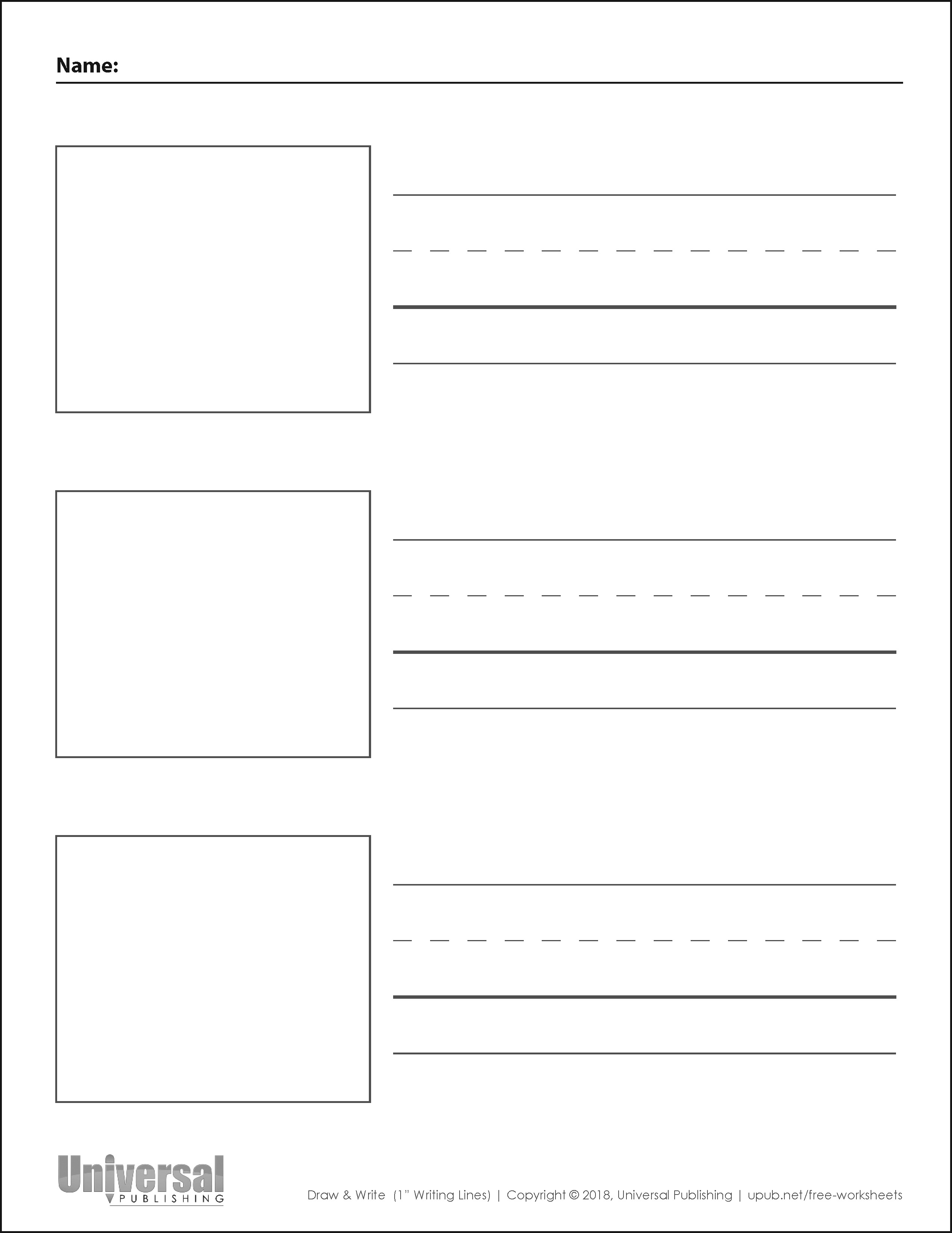 Draw Amp Write Paper Free Printables