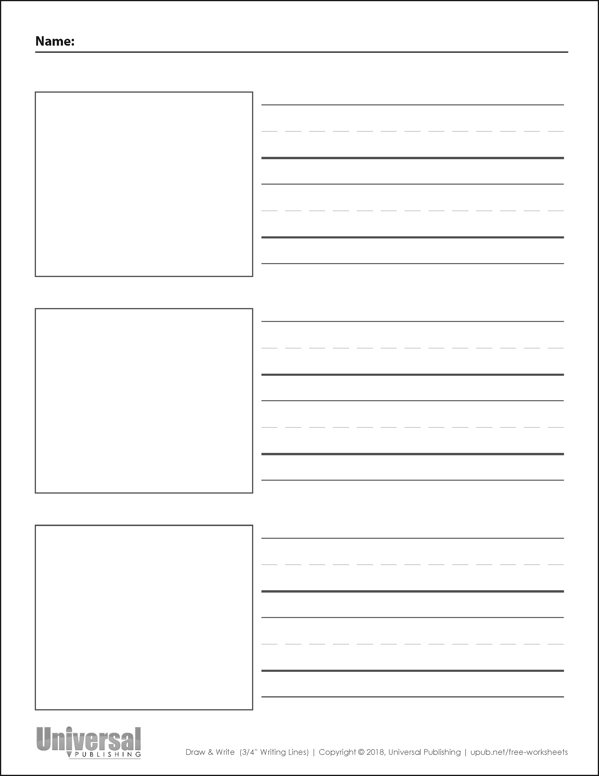 Draw Amp Write Paper Free Printables