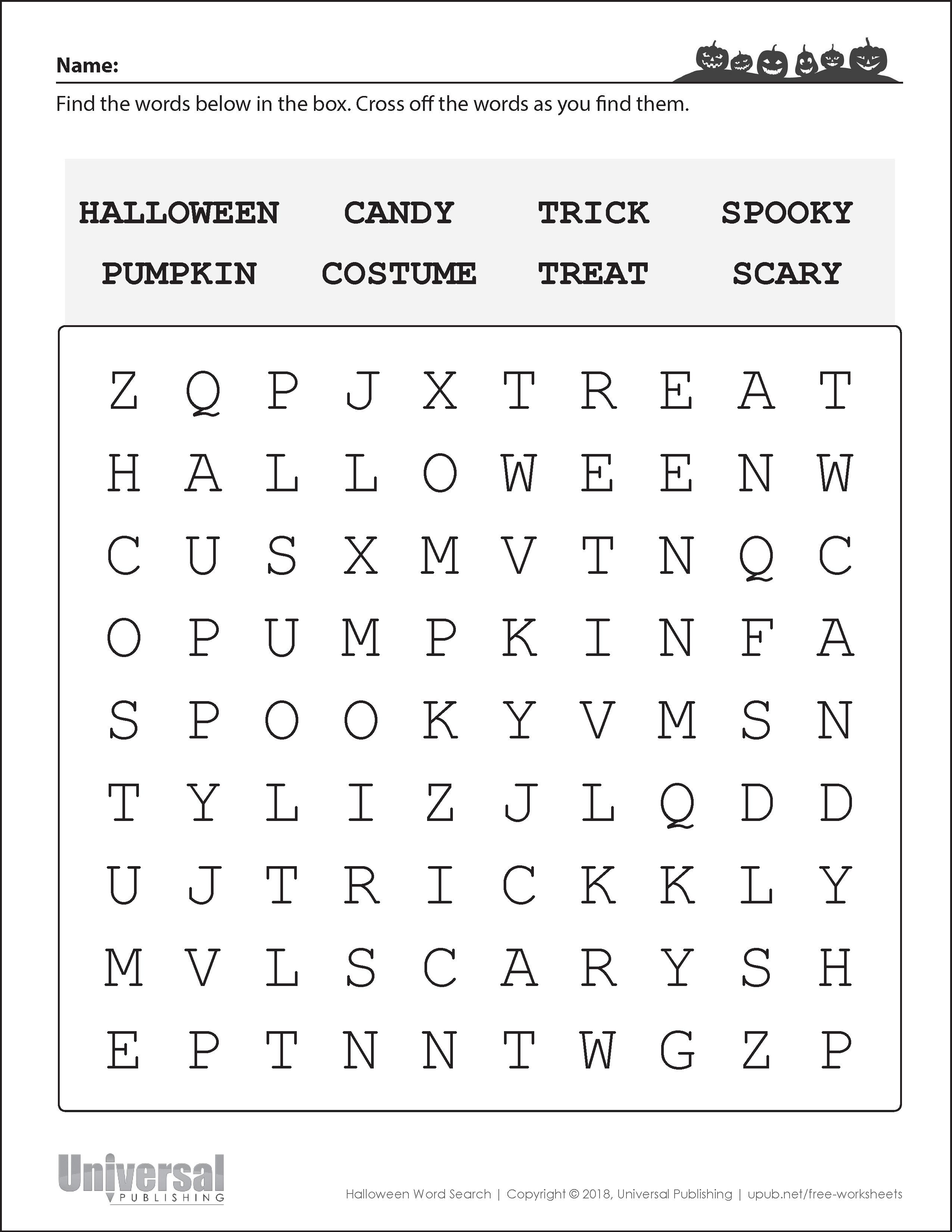 Halloween Activities Free Printables