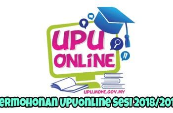 Permohonan UPUOnline Sesi 2018/2019 Ke UA, Politeknik, Kolej Komuniti & ILKA