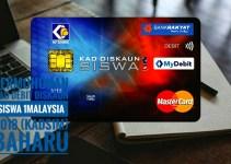 Permohonan Kad Debit Diskaun Siswa 1Malaysia 2018 (KADS1M) BAHARU