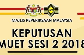 Semakan Keputusan MUET Sesi 2 Julai 2018 Online & SMS