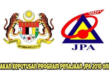 Semakan Keputusan Program Penajaan JPA 2018 Online