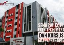 Senarai Kolej Poly-Tech MARA dan Kursus Ditawarkan KPTM
