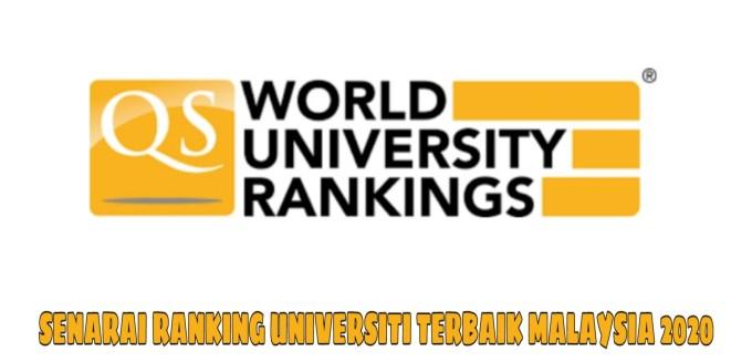 Senarai Ranking Universiti Terbaik Malaysia 2019/2020