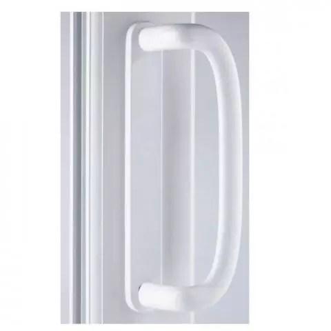 mila inline patio door handle pair 109mm screw fix white blank