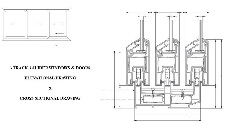 3 Track 3 Slider Window and door