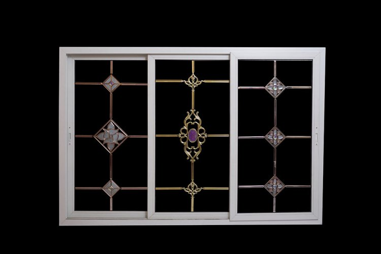 Saicon glass jewellery can be used inside D.G.U. glass unit or Double Glazed Unit or on top of a single glass to increase the aesthetic appeal of the window or door. It can also be used as a substitute of Georgian bars.