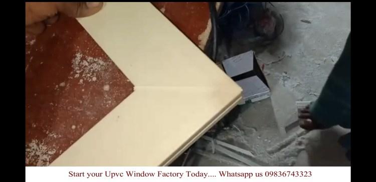 Welded upvc profile using SAICON upvc window machines