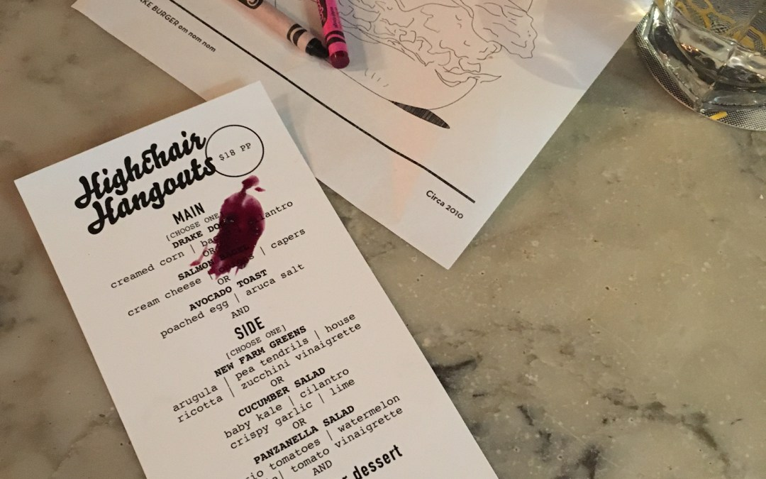 Highchair Hangouts | Tuesdays at The Drake