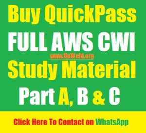 Buy Full AWS CWI Study Material