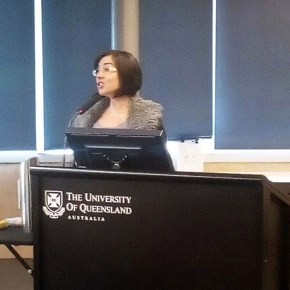 Dr Pojani presenting at Smart Cities seminar