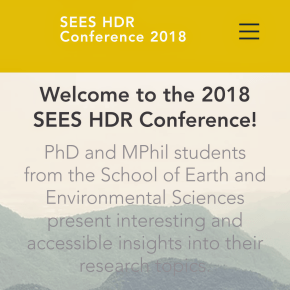 UQ|UP students presenting at SEES HDR conference on Friday