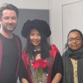Siqin Wang's PhD conferral