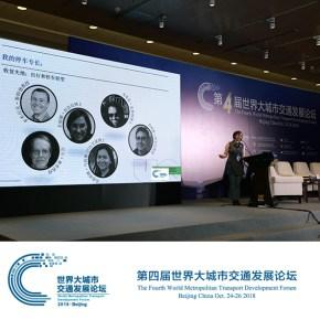 Dorina Pojani at 4th World Metropolitan Transport Development Forum in Beijing